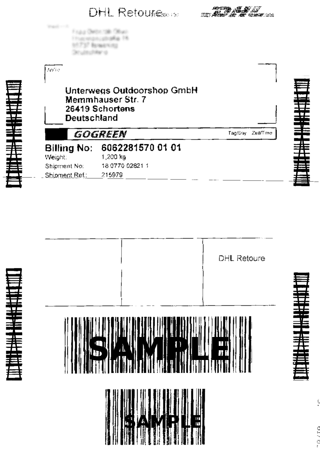 DHL Return Label